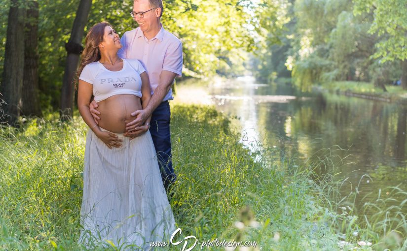Romantisches Babybauch-Shooting im Nymphenburger Park